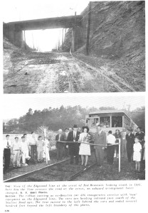 Top photograph: BMRR Crossing over Old Montgomery Highway below Vulcan Source: O. V. Hunt photo -- Hudson128