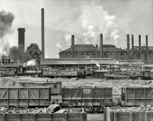 BMRR Trains at Ensley Furnaces circa 1906 Source: SHORPY 4a09958a