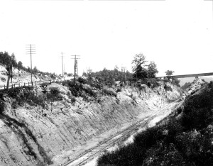 Red Gap Branch crossing over other tracks in Red Gap (Irondale) 1925 Source: Marvin Clemons