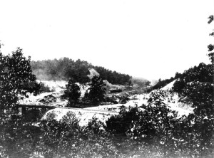 Red Gap (Irondale) looking west 1906 (Note steam engine on tracks in center of photo.) Source: Marvin Clemons