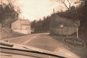 BMRR at Sadler Gap (Roebuck area) formerly crossing over Highway 11 (Photo -- 1950s) Source: Tim Smith