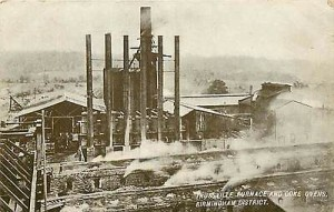 Trussville Blast Furnace and Coke Ovens -- Postcard