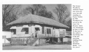 Woodlawn Depot as it appeared in 1996. Source: Lyle Key