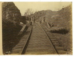 BMRR looking east from near below current Vulcan Park. [not confirmed] January 1910. Source: Bobby Raffield