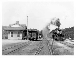 One of two depots in Helena. This one was built in 1908. BMRR tracks are the ones on the left (closest to the building). Source: Ken Penhale