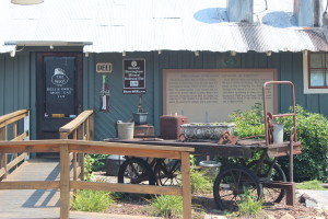 1872 Helena Freight House and Depot in use as a present-day restaurant with BMRR sign afixed.